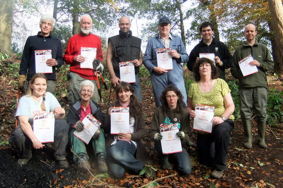 Volunteers receive certificates